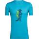 Icebreaker M's Tech Lite Waschbar Wandering SS Crewe Shirt mediterranean
